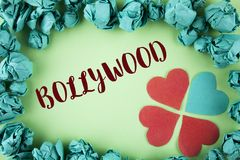 Handwriting text Bollywood. Concept meaning Indian cinema a source of entertainment written on plain background within Paper Balls. Handwriting text Bollywood Stock Photo
