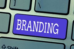 Handwriting text Branding. Concept meaning Assign brand name to something Business marketing strategy royalty free illustration
