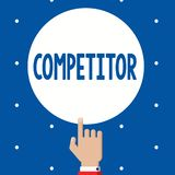 Handwriting text Competitor. Concept meaning Person who takes part in sporting contest commercial competition.  stock photos