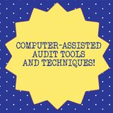 Handwriting text Computer Assisted Audit Tools And Techniques. Concept meaning Modern auditing applications Fourteen 14. Pointed Star shape with Thin outline stock illustration