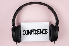 Handwriting text Confidence. Concept meaning Never ever doubting your worth, inspire and transform yourself written on White Stick. Handwriting text Confidence royalty free stock photo
