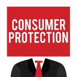 Handwriting text Consumer Protection. Concept meaning Fair Trade Laws to ensure Consumers Rights Protection.  royalty free illustration