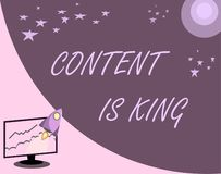 Handwriting text Content Is King. Concept meaning Content is the heart of today s marketing strategies