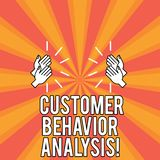 Handwriting text Customer Behavior Analysis. Concept meaning buying behaviour of consumers who use goods Drawing of Hu. Analysis Hands Clapping with Sound icon royalty free illustration