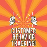 Handwriting text Customer Behavior Tracking. Concept meaning Action that a user takes related to your company Drawing of. Hu analysis Hands Clapping with Sound vector illustration