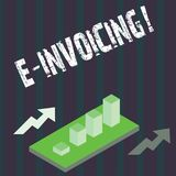 Handwriting text E Invoicing. Concept meaning Company encourages use of digital billing. Handwriting text E Invoicing. Concept meaning Company encourages use of stock illustration