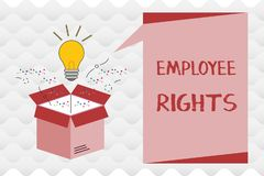 Handwriting text Employee Rights. Concept meaning All employees have basic rights in their own workplace.  royalty free illustration