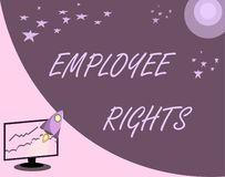 Handwriting text Employee Rights. Concept meaning All employees have basic rights in their own workplace.  vector illustration