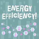 Handwriting text Energy Efficiency. Concept meaning means using less energy to provide same services Online Chat Head vector illustration