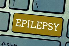 Handwriting text Epilepsy. Concept meaning Fourth most common neurological disorder Unpredictable seizures.  royalty free stock photo