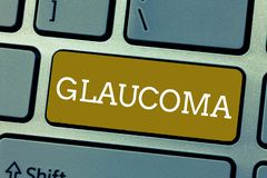 Handwriting text Glaucoma. Concept meaning Eye diseases which result in damage to the optic nerve Vision loss.  stock photos