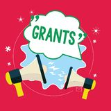 Handwriting text Grants. Concept meaning agree to give or allow something requested someone Authorize action.  royalty free illustration