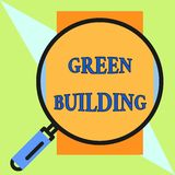 Handwriting text Green Building. Concept meaning A structure that is environmentally responsible Sustainable Round. Handwriting text Green Building. Conceptual vector illustration