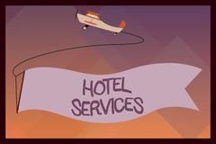 Handwriting text Hotel Services. Concept meaning Facilities Amenities of an accommodation and lodging house.  royalty free illustration