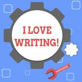 Handwriting text I Love Writing. Concept meaning Affection for creating novels journals inspirational author. stock illustration