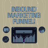 Handwriting text Inbound Marketing Funnel. Concept meaning process of attracting a large amount of prospects Digital Combination royalty free illustration