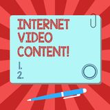 Handwriting text Internet Video Content. Concept meaning Deals with transmission of video over the Internet Blank Square. Color Board with Magnet Click vector illustration