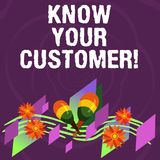 Handwriting text Know Your Customer. Concept meaning verifying identity clients and assessing potential risks Colorful Instrument. Maracas Handmade Flowers and stock image