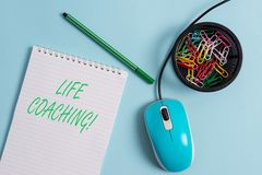 Handwriting text Life Coaching. Concept meaning demonstrating employed to help showing attain their goals in career. Handwriting text Life Coaching. Conceptual stock photography