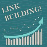Handwriting text Link Building. Concept meaning Process of acquiring hyperlinks from other websites Connection. Handwriting text Link Building. Concept meaning royalty free illustration