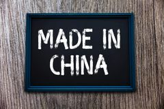 Handwriting text Made In China. Concept meaning Wholesale Industry Marketplace Global Trade Asian Commerce.  stock images