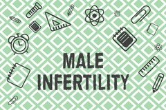 Handwriting text Male Infertility. Concept meaning Inability of a male to cause pregnancy in a fertile.  vector illustration
