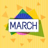 Handwriting text March. Concept meaning third month year where spring begins Walk quickly with determination.  royalty free illustration