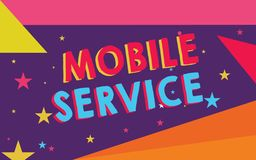 Handwriting text Mobile Service. Concept meaning Radio communication utility between mobile and land stations vector illustration