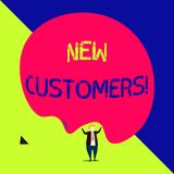Handwriting text New Customers. Concept meaning an entity that has not previously purchased one s is goods. Handwriting text New Customers. Conceptual photo an royalty free illustration