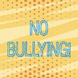 Handwriting text No Bullying. Concept meaning stop aggressive behavior among children power imbalance Pattern of Tiny. Handwriting text No Bullying. Conceptual vector illustration