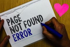 Handwriting text Page Not Found Error. Concept meaning message appears when search for website doesnt exist Paper register multili. Ne text pen handwriting love royalty free stock photos
