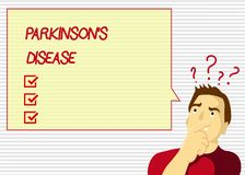 Handwriting text Parkinson s is Disease. Concept meaning nervous system disorder that affects movement.  stock illustration