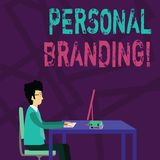 Handwriting text Personal Branding. Concept meaning process of creating a recognizable professional name Businessman. Handwriting text Personal Branding vector illustration