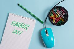 Handwriting text Planning 2020. Concept meaning process of making plans for something next year. Handwriting text Planning 2020. Conceptual photo process of stock photos