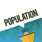 Handwriting text Population. Concept meaning All the inhabitants of a particular place People density royalty free illustration