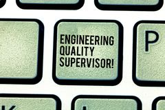 Handwriting text Production And Maintenance Supervisor. Concept meaning Industry control company engineer Keyboard key Intention stock image