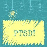 Handwriting text Ptsd. Concept meaning Post Traumatic Stress Disorder Mental Illness Trauma Fear Depression Set of stock illustration