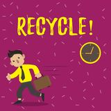 Handwriting text Recycle. Concept meaning Converting waste into reusable material. Handwriting text Recycle. Concept meaning Converting waste into reusable royalty free illustration