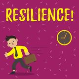 Handwriting text Resilience. Concept meaning Capacity to recover quickly from difficulties Persistence. Handwriting text Resilience. Concept meaning Capacity to vector illustration