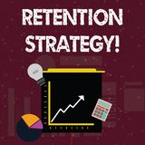 Handwriting text Retention Strategy. Concept meaning activities to reduce employee turnover and attrition Investment