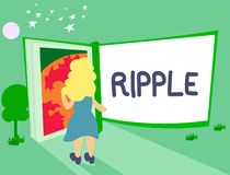Handwriting text Ripple. Concept meaning small wave or series of them surface of water caused slight breeze.  vector illustration