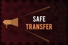 Handwriting text Safe Transfer. Concept meaning Wire Transfers electronically Not paper based Transaction.  Royalty Free Illustration
