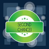 Handwriting text Second Chance. Concept meaning opportunity to try something again after failing one time Colored Round. Handwriting text Second Chance vector illustration