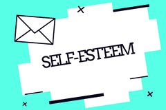 Handwriting text Self Esteem. Concept meaning Confidence in your own worth or abilities Personal appreciation.  vector illustration
