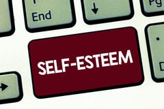 Handwriting text Self Esteem. Concept meaning Confidence in your own worth or abilities Personal appreciation.  royalty free stock images