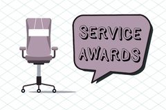 Free Handwriting Text Service Awards. Concept Meaning Recognizing An Employee For His Or Her Longevity Or Tenure Stock Photography - 125480492