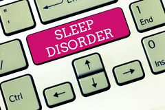 Handwriting text Sleep Disorder. Concept meaning problems with the quality, timing and amount of sleep stock images
