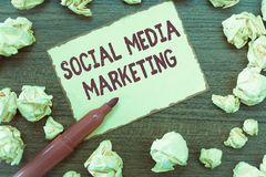 Handwriting text Social Media Marketing. Concept meaning use of Website and Network to promote Product Service.  royalty free stock photo