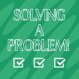 Handwriting text Solving A Problem. Concept meaning include mathematical or systematic operation find solution Geometric. Blank Color Shape Oblong in Seamless vector illustration