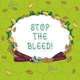 Handwriting text Stop The Bleed. Concept meaning Medical treatment for stopping the blood running from injury Wreath vector illustration